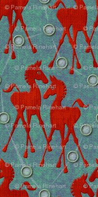 horses  red small