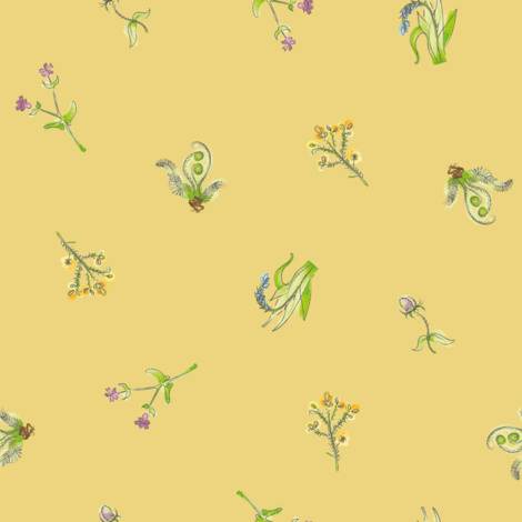 welsh-coast-flora_traditional fabric by bee&lotus on Spoonflower - custom fabric