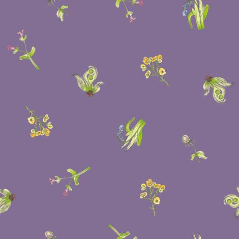 welsh-coast-flora_urchin fabric by bee&lotus on Spoonflower - custom fabric