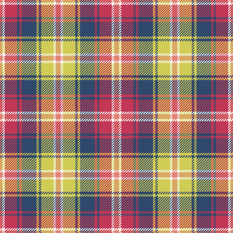 tartan - matisse contest fabric by sef on Spoonflower - custom fabric