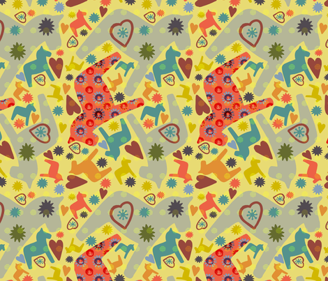 My Lovely Horse fabric by slumbermonkey on Spoonflower - custom fabric