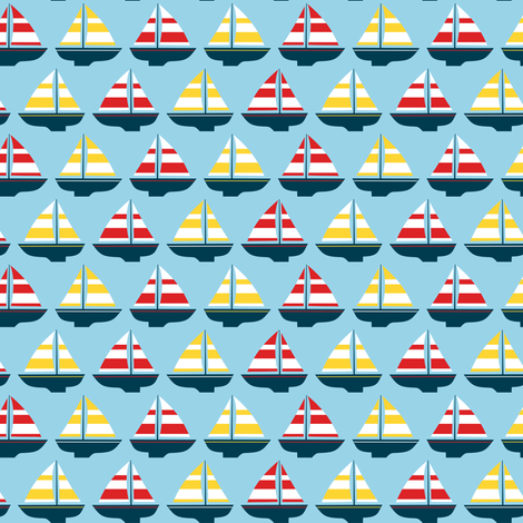 Little boats fabric by petitspixels on Spoonflower - custom fabric