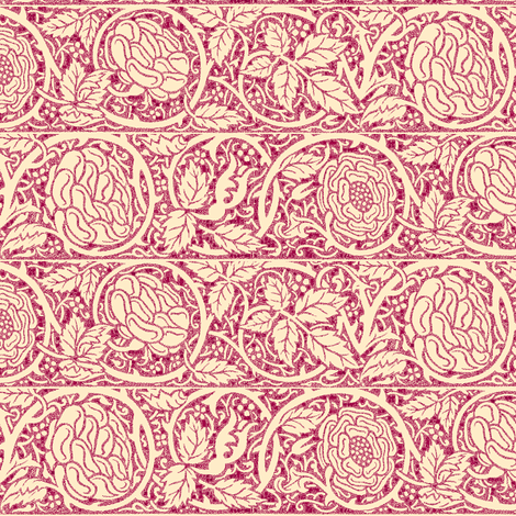 Summer Roses fabric by amyvail on Spoonflower - custom fabric
