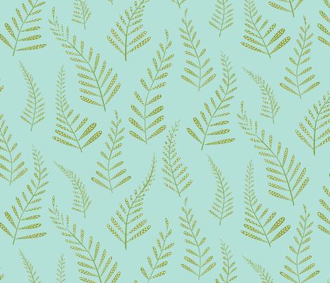 Ferns fabric by jillbyers on Spoonflower - custom fabric