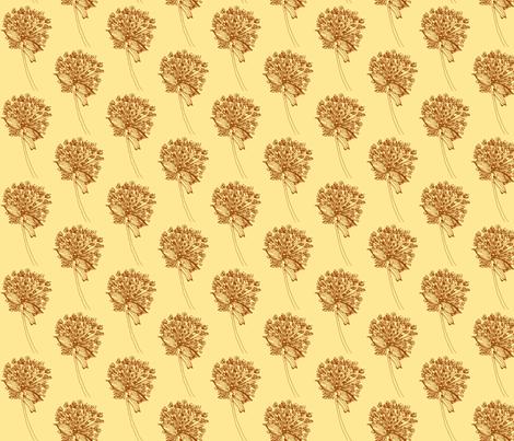 sienna champagne fabric by kumate on Spoonflower - custom fabric