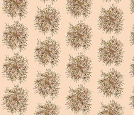 Dandylion_Swirl__Peach fabric by patsijean on Spoonflower - custom fabric