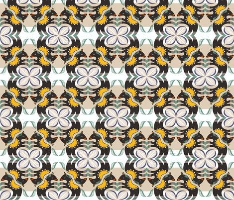 horses fabric by gaiamarfurt on Spoonflower - custom fabric