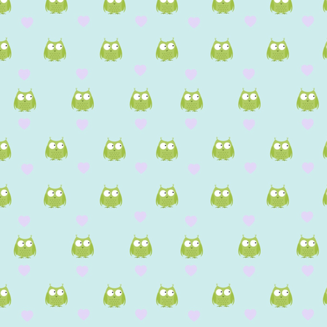 Whooo loves you fabric by firedryad1 on Spoonflower - custom fabric