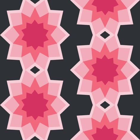 Starburst Flower - Pink fabric by karapeters on Spoonflower - custom fabric