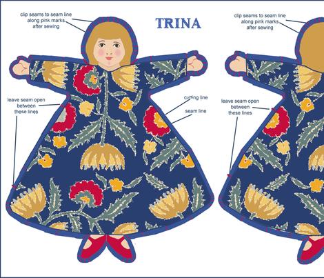 four_dolls fabric by lfntextiles on Spoonflower - custom fabric