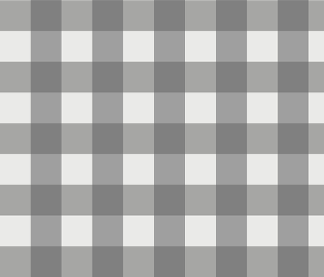 Buffalo Check in Charcoal fabric by willowlanetextiles on Spoonflower - custom fabric