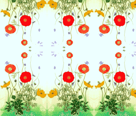 Idyllic day in the country fabric by rezhoney on Spoonflower - custom fabric