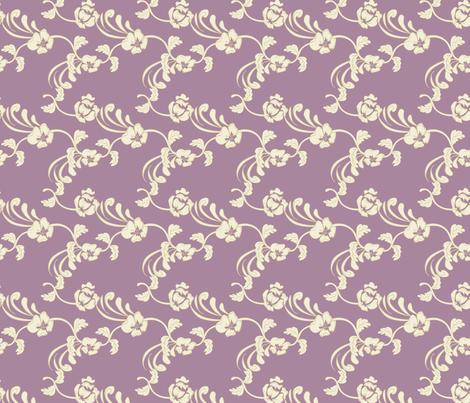 Damask_Purple fabric by lana_gordon_rast_ on Spoonflower - custom fabric