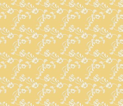 Damask_Yellow fabric by lana_gordon_rast_ on Spoonflower - custom fabric
