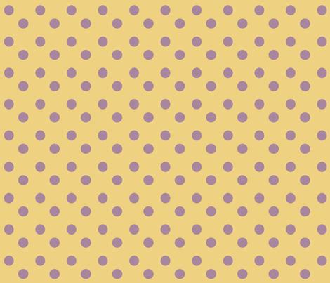 Purple___Yellow_Polka_Dots fabric by lana_gordon_rast_ on Spoonflower - custom fabric