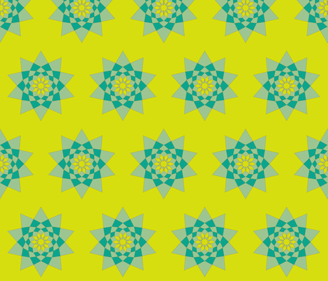 aqua lime floral fabric by lbehrendtdesigns on Spoonflower - custom fabric