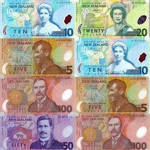 NZ dollar bills