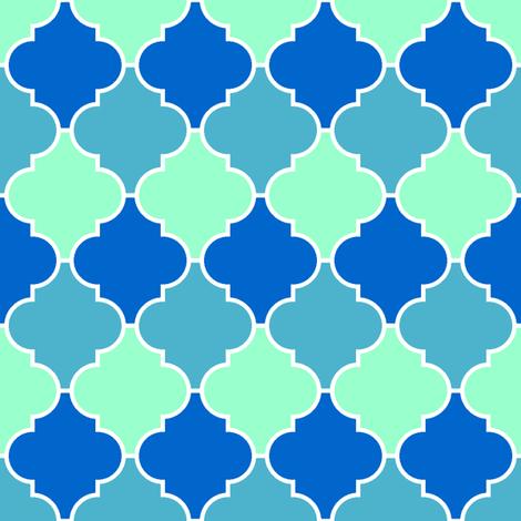 c-rhombus 3 - ocean fabric by sef on Spoonflower - custom fabric