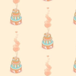 cute pattern of cakes