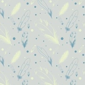 The pattern of gentle feathers