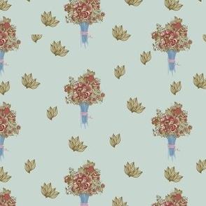 Vintage pattern of flowers