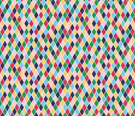 Rainbow harlequin diamonds fabric by little_fish on Spoonflower - custom fabric