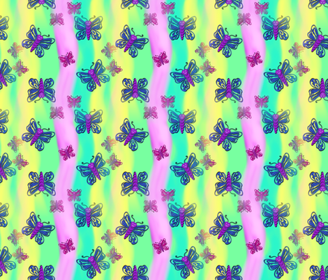Spring Butterflies fabric by trgatesart on Spoonflower - custom fabric
