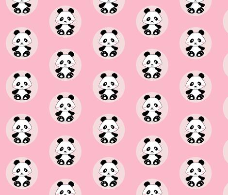 Jingjing's Panda Dots Light Pink fabric by aimee on Spoonflower - custom fabric