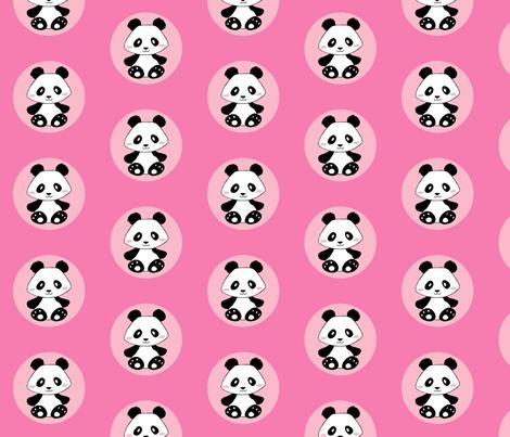 Jingjing's Panda Dots Pink fabric by aimee on Spoonflower - custom fabric
