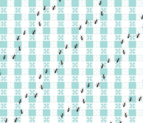 Picnic Gingham fabric by thinkcrafty on Spoonflower - custom fabric