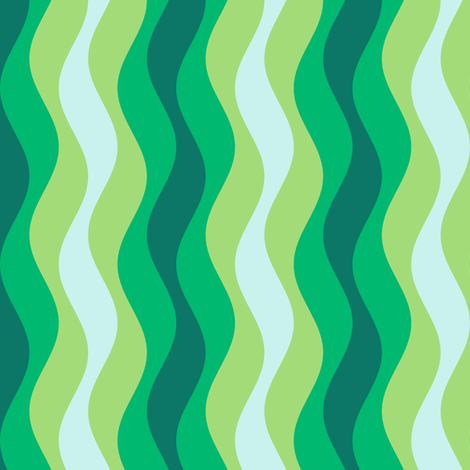 sine wave - rippling seaweed fabric by sef on Spoonflower - custom fabric