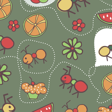Picnic Ants fabric by sofia_figueiredo on Spoonflower - custom fabric