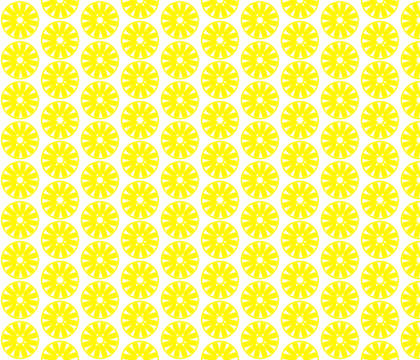 CITRUS_SIMPLE-YELLOW fabric by mammajamma on Spoonflower - custom fabric