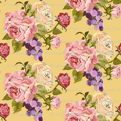 Vintage Rose_yellow