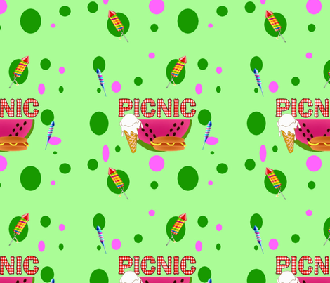 Picnic-ed fabric by hmilwicz on Spoonflower - custom fabric