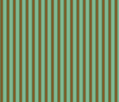 Chocolate_Aqua_Stripe fabric by kelly_a on Spoonflower - custom fabric