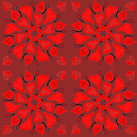 Valentine Quilt fabric by ravynscache on Spoonflower - custom fabric