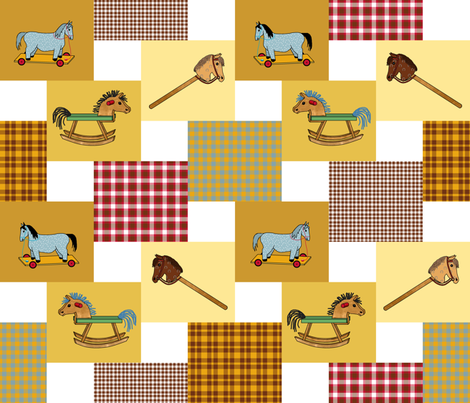 horses_double_steps_2x2__B3 fabric by khowardquilts on Spoonflower - custom fabric