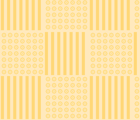 yellow-squares fabric by adorablelittlethings on Spoonflower - custom fabric