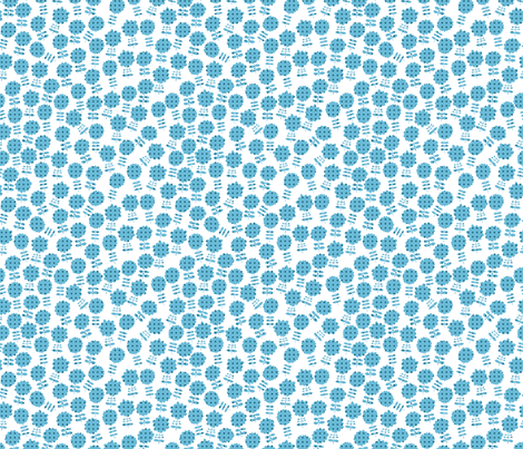 Blue flowers fabric by valendji on Spoonflower - custom fabric