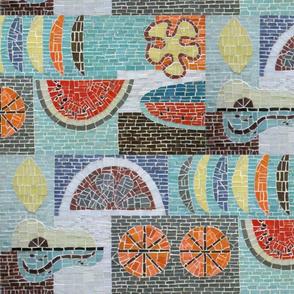 Mid Century Fruit Mosaic-Med