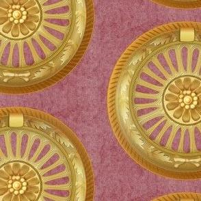 WREATH ornament - wine 5inch