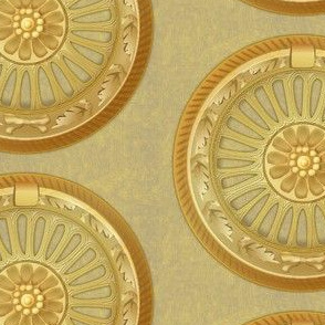 WREATH ornament - gold 5inch