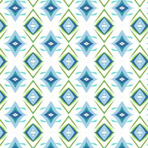 Retro Diamond in Blue