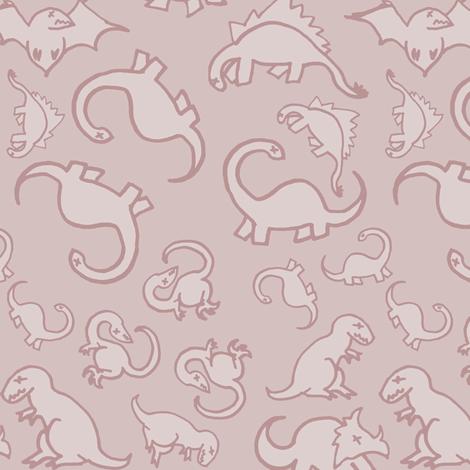 Dinosaur Fossils Final fabric by pond_ripple on Spoonflower - custom fabric