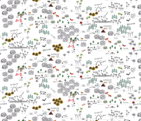 Roadtrip fabric by abbyg on Spoonflower - custom fabric