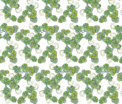 underbrush nasturtiums fabric by golders on Spoonflower - custom fabric