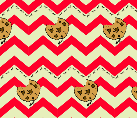 Gimme a cookie - pale green fabric by walkwithmagistudio on Spoonflower - custom fabric