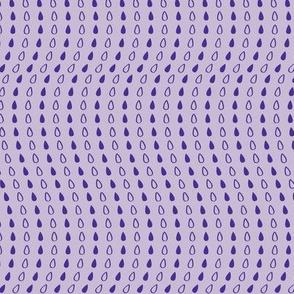 Elephant's Garden (Tangerine Violet) - Violet Droplets