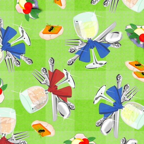 Shiny Canapes Picnic - synergy0003 fabric by glimmericks on Spoonflower - custom fabric